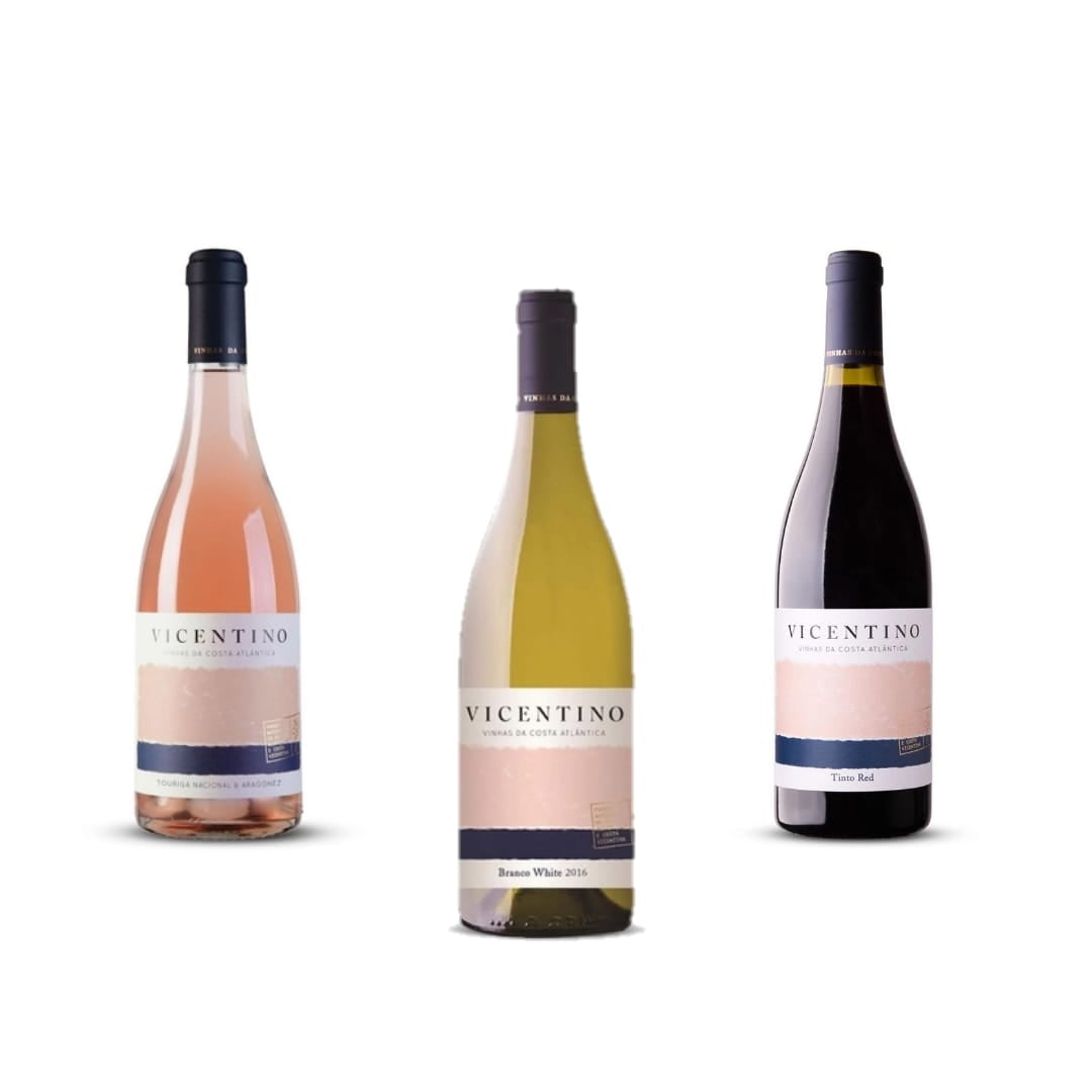 TRIO VICENTINO - COSTA DO ALENTEJO - BRANCO, TINTO E ROSE